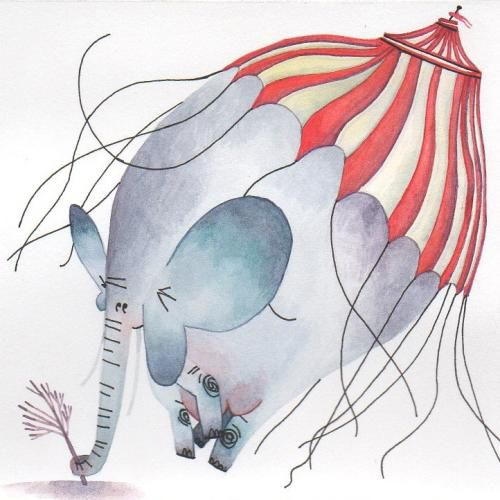 A circus elephant for Animaloon Collective