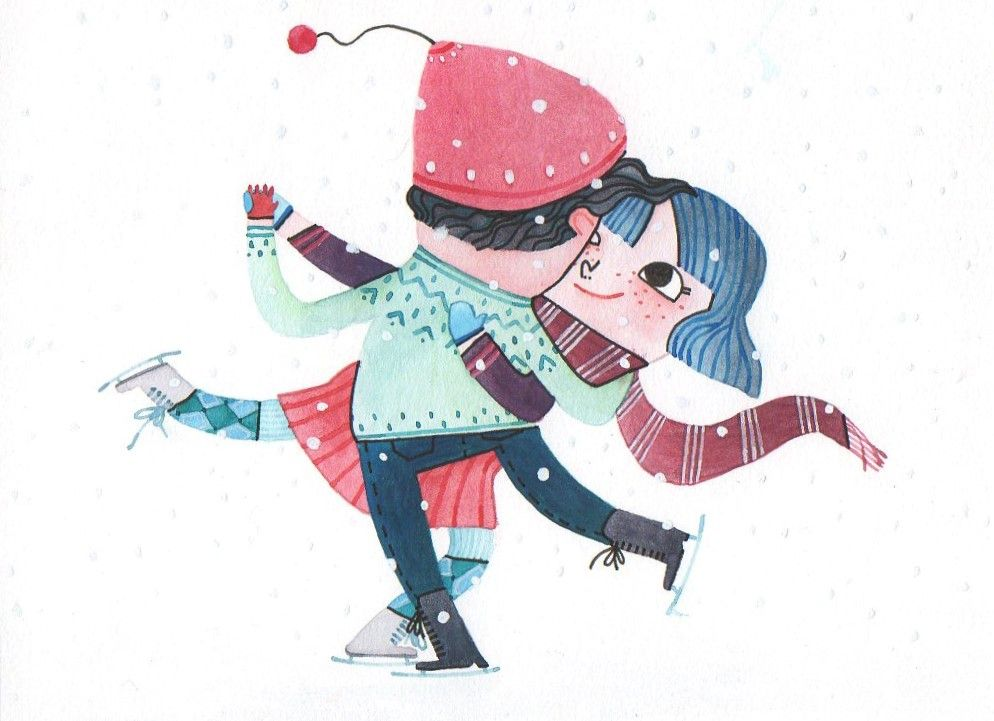 Two iceskaters for Collective