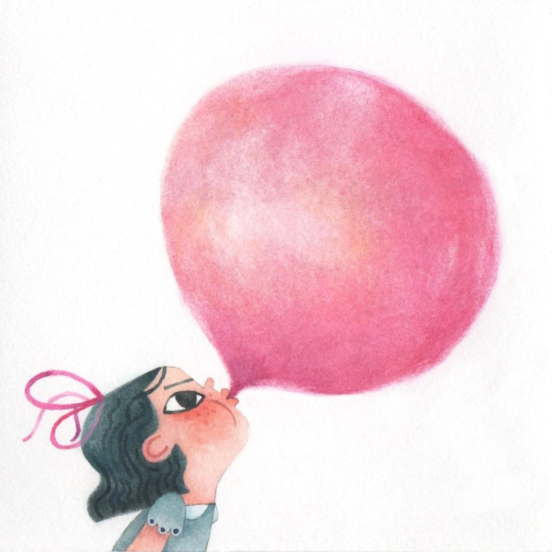 Blowing a bubble for Colour Collective