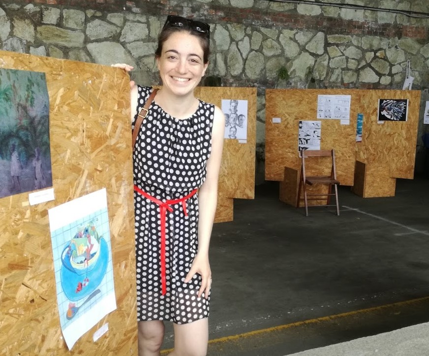 My illustration at Disegni e Libri al Sole Festival